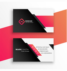 abstract geometric business card modern design vector image