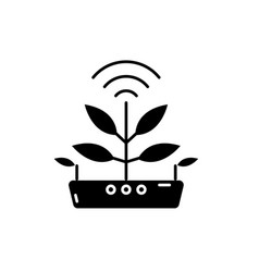 Agro technology black icon sign on vector