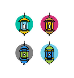 arabic tradotional lamp icon arabic lamp islamic vector image
