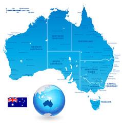 Australia administrative map set vector