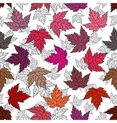 Autumn seamless leaf pattern 7 vector image