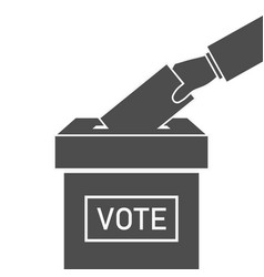 Ballot box and hand with vote icon election vector