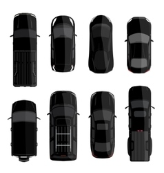 Black car set vector