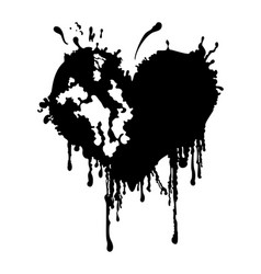 Bloody ragged heart vector
