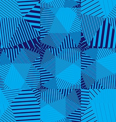 Blue abstract striped textured geometric seamless vector image