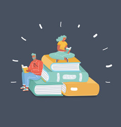 book and readers concept vector image