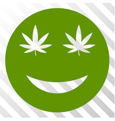 Cannabis smile eps icon vector
