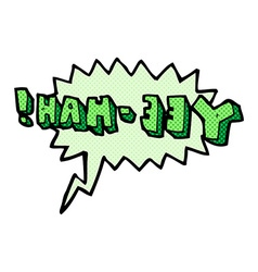 cartoon yeehah symbol with speech bubble vector image