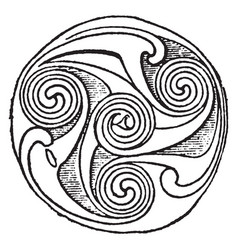 Carved interlace pattern is a trumpel design vector