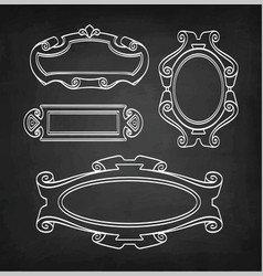 chalk sketch of vintage frames vector image