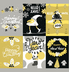 christmas posters and banners set vector image