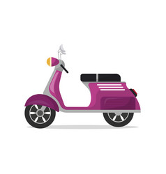 classic motorcycle isolated icon vector image