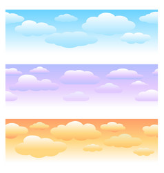 clouds horizontal seamless patterns vector image