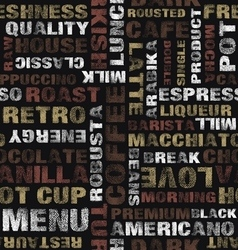 Coffee text pattern vector