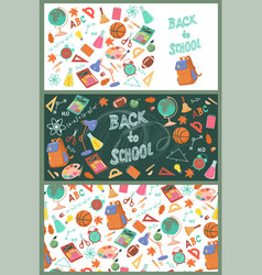 collection banners back to school vector image