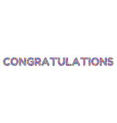 congratulations on the confetti vector image