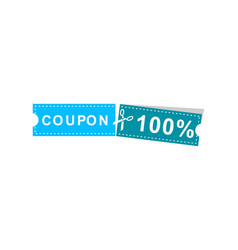 coupons discount banner 100 offers vector image