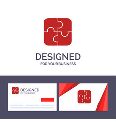 Creative business card and logo template puzzle vector