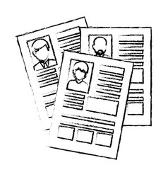 curriculum vitae isolated icon vector image