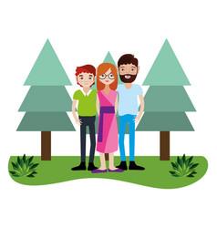 Cute family cartoon vector