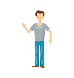 Dad icon in cartoon style vector image