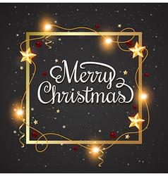 Decorative Christmas frame vector image