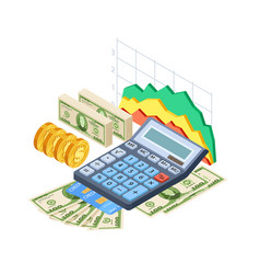 Financial analytics bookkeeping concept vector