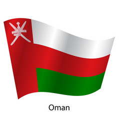 flag of the country oman on white background vector image