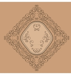 Floral elegant vintage label decor vector image