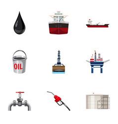 Fuel icons set cartoon style vector