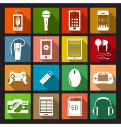 Gadget Icons Flat vector