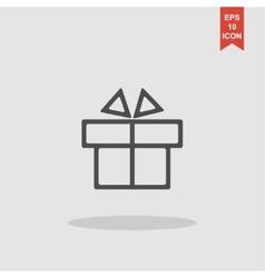 Gift box itson - icon vector image