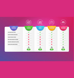 Graph laptop presentation and reject mail icons vector