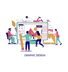 graphic design concept for web banner vector image