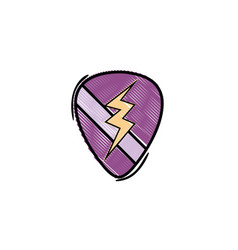 grated rock emblem with thunder symbol design vector image