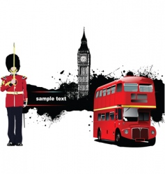 grunge london vector image
