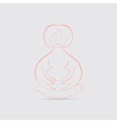 Happy Pregnant Women Concept vector image