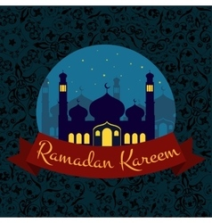Happy Ramadan Kareem greeting background vector