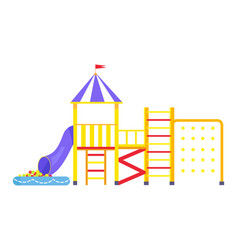 image of big bright playground on white background vector image
