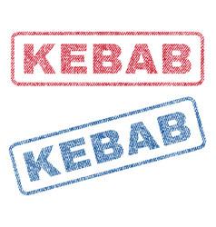 Kebab textile stamps vector