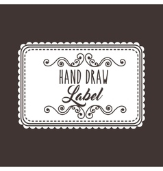Label and decoration icon Hand draw design vector image