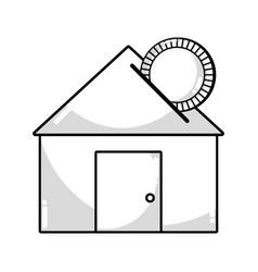 line house to save cash money economy vector image