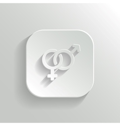 Male and female icon - white app button vector