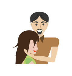 man caress woman couple romantic image vector image
