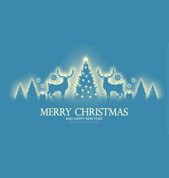 Merry christmas amd happy new 2021 year shining vector