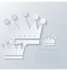 Modern crown light background vector