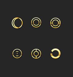 o letter logo template set vector image