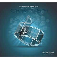 Old Cinema banner with stripe roll vector image