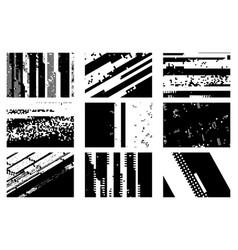 overlay glitch texture set vector image
