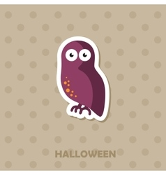 Owl icon Halloween sticker vector image